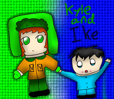 AT with Julieloveshunny: Kyle and Ike Brofloski by Hallerpl