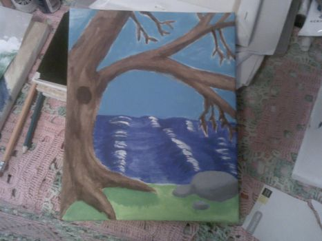 Tree by the Sea by MzKris513