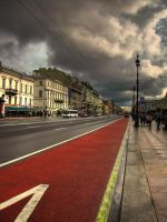 nevsky parade of the clouds by delfalge