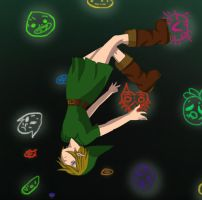 Link Falling to Fate by NekoKyandiChan