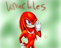 Knuckles the Echidna by martiigr5