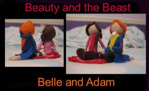 Belle and Adam- clay by ProtectorKorii
