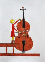 Lisa plays the Octobass by GladiatorRomanus