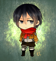 Mikasa Ackerman by thehairypeach