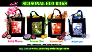 Seasonal Eco Bags Ad by yuumei