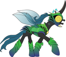 Queen Chrysalis in Chitin Armor by Pappkarton