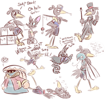 Gallow and Friends Sketch Junk Or Something by Wonder-Waffle