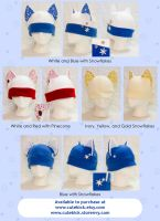 Winter Holiday Cat Hats by cutekick