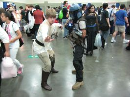 Otakon 2013 - Luke Skywalker and Mandalorian by TujoThePanda