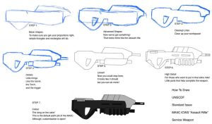 How To Draw An Assault Rifle by ARCtroop