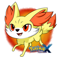 Fennekin - Pokemon X by RavenEvert