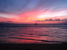 Maui Sunset by Leithster