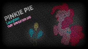 Pinkie Pie Wallpaper: typography style by KennyKlent