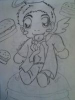 Castiel Burger Obsession by Simply-Dreams