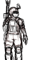 Lucille Navy Seal sketch by mechaguy