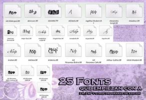 Fonts con A by KonanCiel