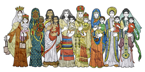 Indigenous and Traditional Marian Images by NowitzkiTramonto