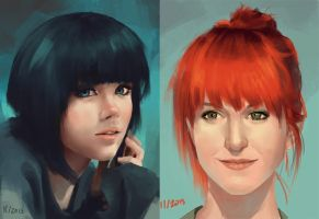 Quick portraits by GloriousRyan