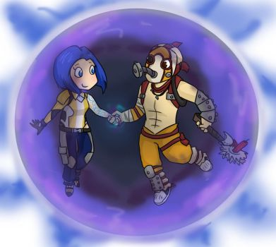 Maya the Siren and Krieg the Psycho by ammy275