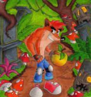 crash bandicoot in the jungle by DSA09