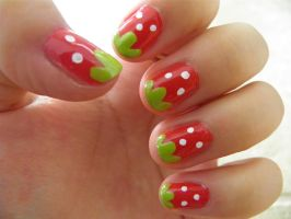 Strawberry Nails by luckymarimari
