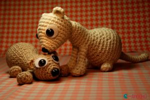 Babet and Boba Fet', the crocheted ferret by Ahookamigurumi