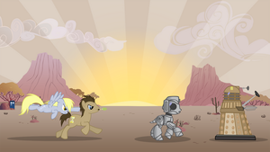 The Doctor and Ditzy Background by dlazerous