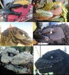 Godzilla Head Step by Step by jpfan1989
