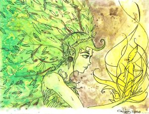 Creation - A Forest Nymph and A Sequoia Buddling