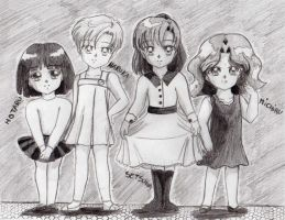 Chibi Sailor Senshi  Outers by SailorMiha