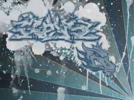Graffiti dragon by Witho