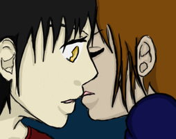 Shay kissing Adamas by A-Ryder