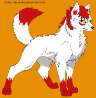 Kira the Fire Wolf by FillyDrawSilly