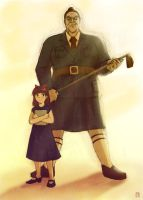 Matilda and the Trunchbull by piano-kun