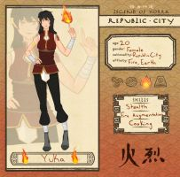 Republic City Application - Yuka by Domichii-chan