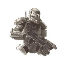REPUBLIC COMMANDO SKETCH by REDBAZ
