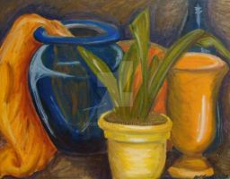 Vase and Plant Still Life by sobie182