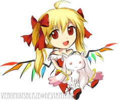 Flandre and Kyubey by VenomousBlaze
