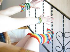 Kandi Kid Rainbow by LolliPopsickle