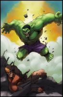 Hulk vs Wolverine end battle by logicfun