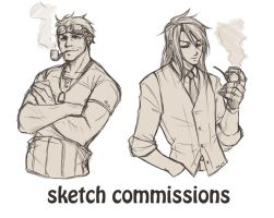 Sketch commissions open by CrimsonSun
