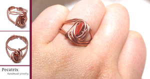 Copper and Jasper Ring by pecatrix