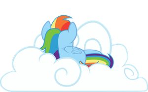 Rainbow Dash's Cloud by smilymammoth