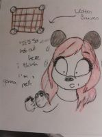 log book sketches - it's hot out here by RandomCartoonz