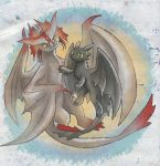 Toothless and Cloudjumper! by Z-N-K