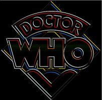 Doctor Who 70s Logo NEON by jjbkwrm1991