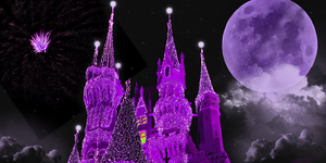 Castle purple hue banner by WDWParksGal-Stock