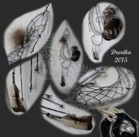 Feathered Mist Dreamcatcher by Drerika