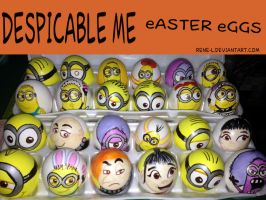 DESPICABLE ME Easter eggs 2014 by Rene-L