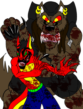 Juggalo and KLown WoLF by SabreWolfQueen